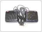 Quality GME dual speakers with attachment clips.