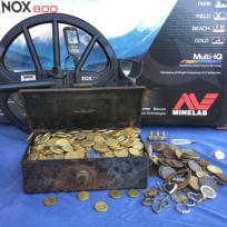 $1k of $1 and $2 coins found with the Equinox 800